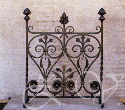 Fire screen.
