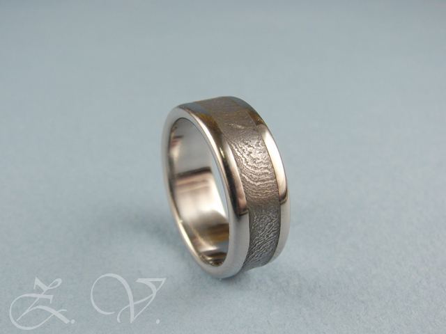 Damascus steel ring.