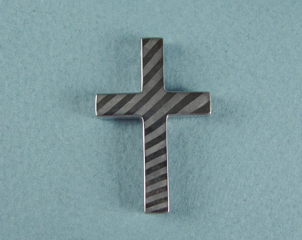 Stainless steel cross.