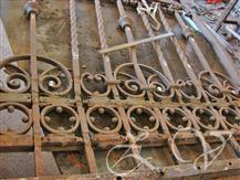 Right half of gate  during  restoration.